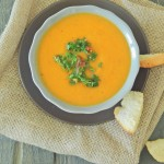 Roasted Butternut Soup with Parsley Pesto