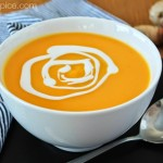 creamy butternut squash and coconut soup